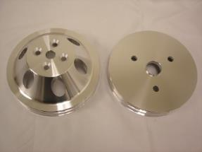 SBC Chevy Aluminum 2/2 Groove Pulleys Combo SWP