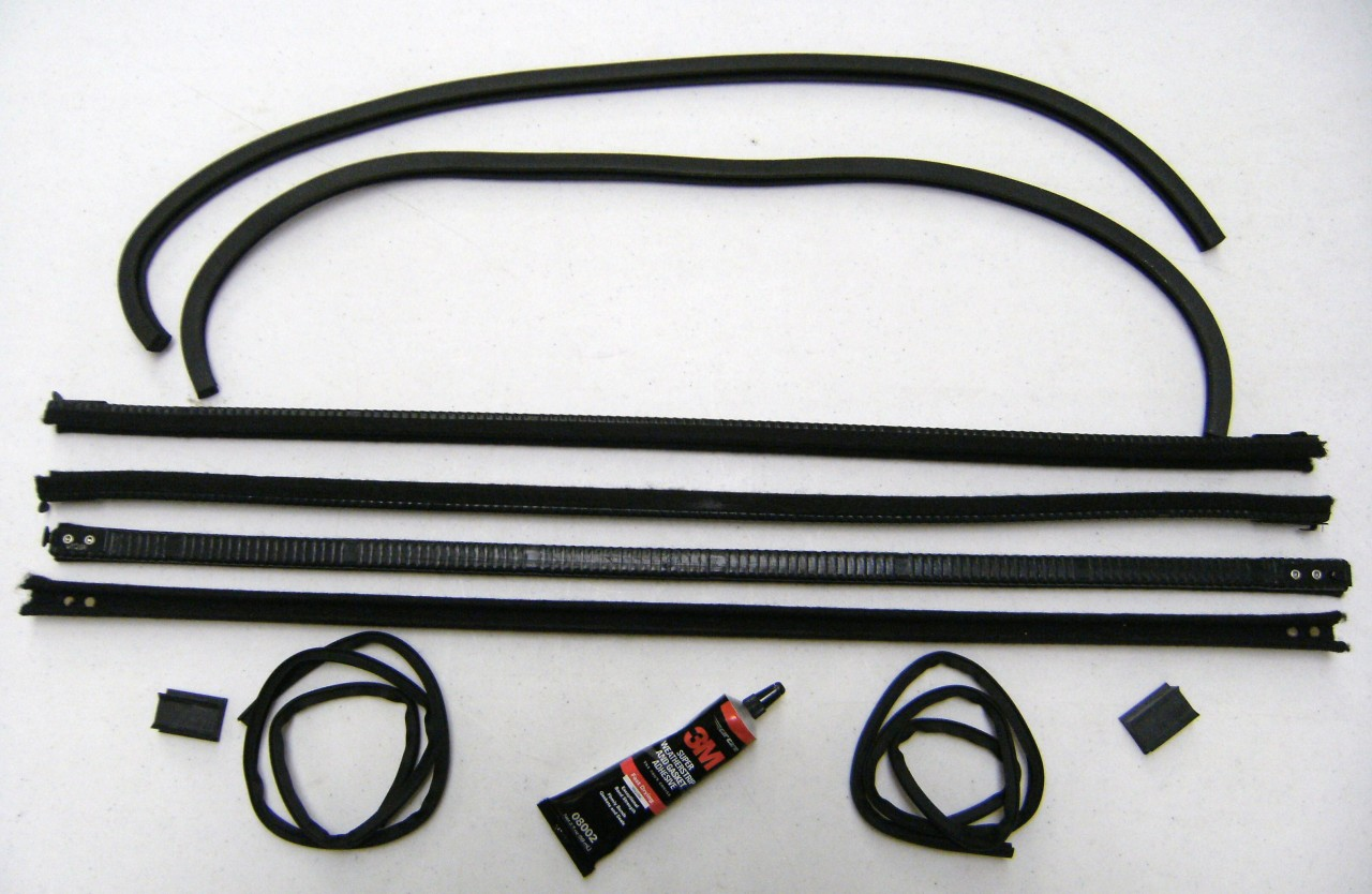 Ford Model A Rear Window Glass Seal+ Tudor Sedan 1/4 Window Kit