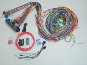 24 Circuit 12v 15 Fuse Street Rod Wiring Harness Kit