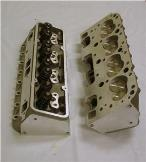 Small Block Chevy Aluminum Cylinder Heads COMPLETE SET