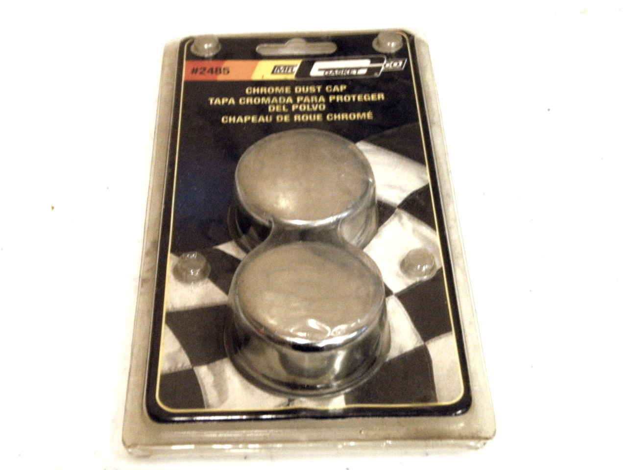 "Mr Gasket # 2485 1.790"" Diameter Chrome Dust Caps"
