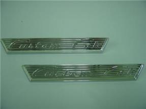 1955 1956 Ford Truck Chrome CUSTOM CAB Door Emblems '56