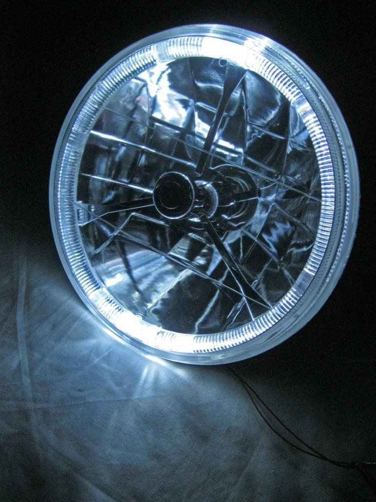 """7/"""" Headlight Head Lamp H4 Bulb King Bee Replacement with Built In Turn Signal"""
