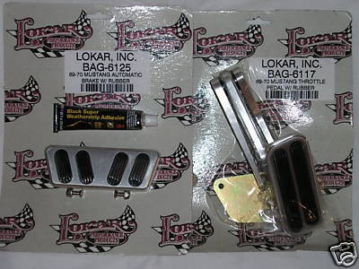 Lokar 1969 1970 Mustang Gas Throttle Pedal & Brake Pad