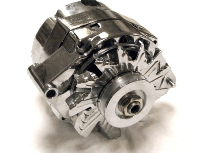 chrome 1 wire alternator small big block chevy gm olds pontiac gearhead enterprises