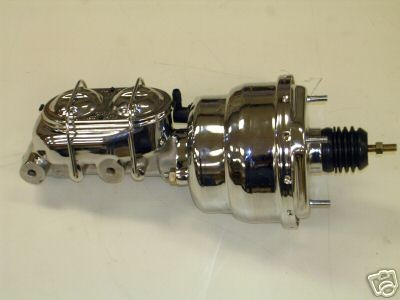 "Valve CHROME 7/"" Street Rod Power Booster w// Master Cylinder /& Disc Disc Prop"