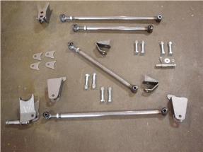 Ford Model A Rear Triangulated 4 Bar Four Link Kit - Gearhead